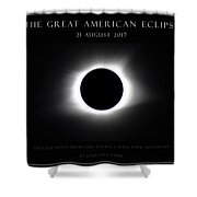Great American Eclipse - Triptych Shower Curtain