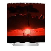 Great Ball Of Fire Shower Curtain