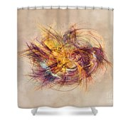 Great Bang Fractal Art Shower Curtain