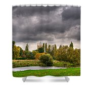 Great Barford River View Shower Curtain