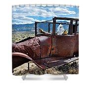 Great Basin Jalopy Shower Curtain