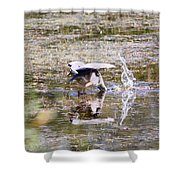 Great Blue Fishing Shower Curtain