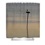 Great Blue Heron I Shower Curtain