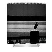 Evening On The York River Shower Curtain