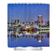 Great Blue Water Reflections Shower Curtain