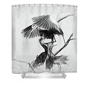 Great Blues II Sketch Shower Curtain