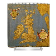 Great Bretain And Ireland Shower Curtain