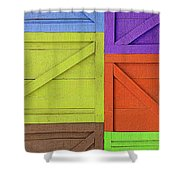 Great Crates - Multicolored Packing Boxes Stacked Shower Curtain