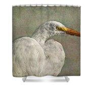 Great Egret Shower Curtain