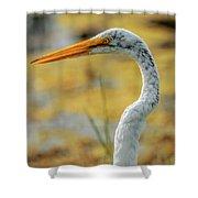 Great Egret Profile Shower Curtain