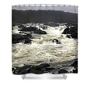 Great Falls Potomac River Maryland Shower Curtain