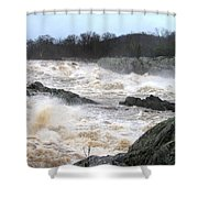 Great Falls Torrent Shower Curtain