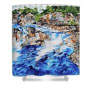 Great Falls Waterfall 201826 Shower Curtain