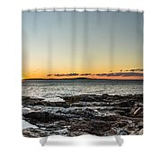 Great Head Beach Sunrise Shower Curtain