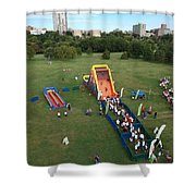 Great Inflatable Race Shower Curtain