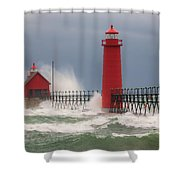 Great Lakes Fury Shower Curtain
