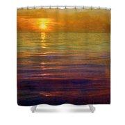 Great Lakes Setting Sun Shower Curtain