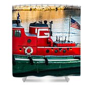 Great Lakes Towing Tug Florida Shower Curtain