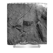Great Mountains Of Central Park In Black And White Shower Curtain