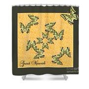 Great Nawab Butterfly Wheel Shower Curtain