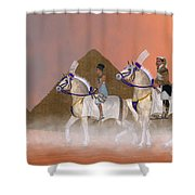 Great Pyramids And Nobility Shower Curtain