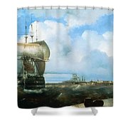 Great Roads At Kronstadt In 1836 715 H93 Ivan Konstantinovich Aivazovsky Shower Curtain