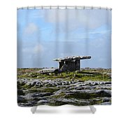 Great Rock Poulnabrone Portal Tomb Shower Curtain