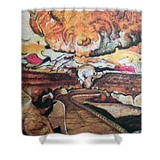 Great Room At Lascaux Shower Curtain