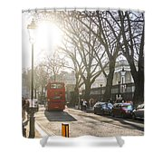 Great Russell St. In The Afternoon Shower Curtain