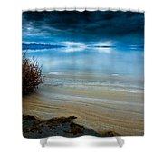 Great Salt Lake Shores Shower Curtain