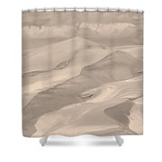 Great Sand Dunes  - In Sepia Shower Curtain
