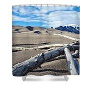 Great Sand Dunes National Park Driftwood Landscape Shower Curtain