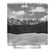 Great Sand Dunes Panorama 1 Bw Shower Curtain by James BO  Insogna