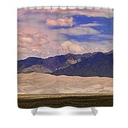 Great Sand Dunes Panorama 2 Shower Curtain