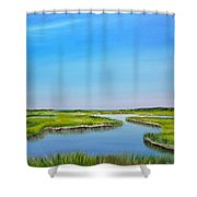 Great Sippewisset Marsh Shower Curtain