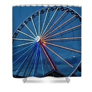 Great Smoky Mountain Wheel Shower Curtain
