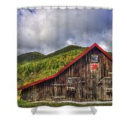 Great Smoky Mountains Barn Shower Curtain