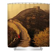 Great Wall In The Mist Shower Curtain
