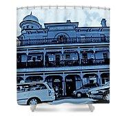 Great Western Perth Cyan Shower Curtain