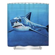 Great White 2 Shower Curtain