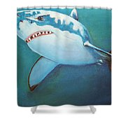 Great White 3 Shower Curtain