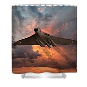 Great White Vulcan Shower Curtain