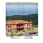 Greece Summer Vacation Landscape Shower Curtain