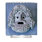 Greece: Theatrical Mask Shower Curtain