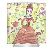 Greedy Fairy Shower Curtain