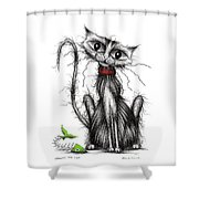 Greedy The Cat Shower Curtain