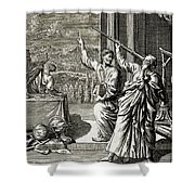 Greek Astronomer Studying The Stars Shower Curtain