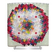 Greek Cross To Square Dissection Shower Curtain