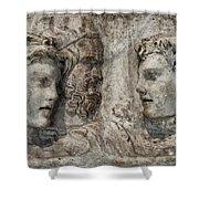 Greek Furneral Box Shower Curtain