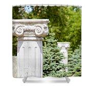 Greek Ionic Columns Shower Curtain